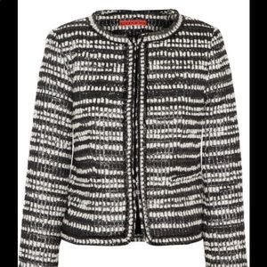 Alice and Olivia Kidman Black Silver Tweed Jacket